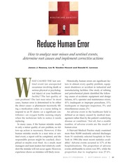 Reducing Human Error Quality - Progress
