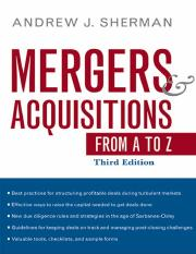 Andrew j sherman mergers and acquisitions from a to zpdf mergers andrew j sherman mergers and acquisitions from a to zpdf mergers acquisitions from a to z t h i r d e d i t i o n this page intentionally left blank fandeluxe Gallery