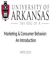 Marketing & Consumer Behavior - An Introduction  HANDOUT.pptx
