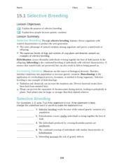 selective breeding essays