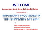 27.3.15Cost Audit 2014_Provisions of Companies Act