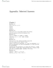 Appendix- Selected Answers