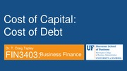 FIN 3403 - Module 6 - Chapter 10 - Cost of Capital - Student
