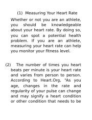 Measuring Your Heart Rate.doc