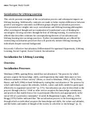 Socialization for Lifelong Learning Research Paper Starter - eNotes.pdf
