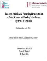 Sopitsuda Tongsopit SETA_Business Models and Financing Structures Rooftop Solar_Tongsopit.pdf