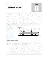 Lab #08 Newton's 2nd Law