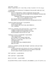 CLET 3826 Winter 2012 Final Exam Study Guide