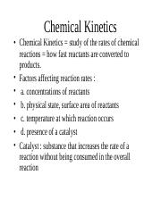 chapter 13-chemical kinetics