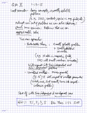 MATH 20610 Fall 2014 Time Dependancy Lecture Notes