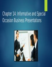 Chapter 14 Informative and Special Occasion Business Presentations-1