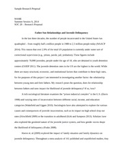 SOC 20 -- Sample Research Proposal