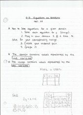 5-3 Equations as Relations Notes
