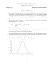 18. Normal distribution
