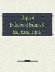chapter 4 Evaluation of Business & Engineering Projects