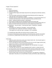 Chapter 4 Test Review Questions