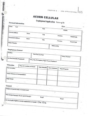 STS1037, Employment Application Sample