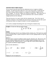 Substitution Rule for Definite Integrals