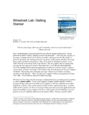 Lab1 - Introduction To WireShark