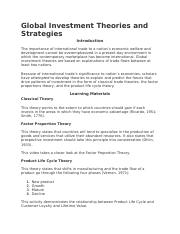 Global Investment Theories and Strategies.docx