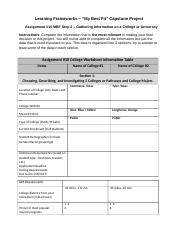 Assignment #10 College Worksheet Information Table Complete (1).docx