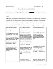 Group Conference Preparation Form