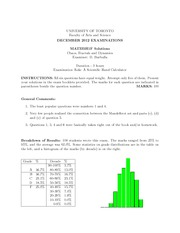 Final Exam Solution Fall 2012
