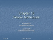 IS612_LECTURE NOTES_Chapter 16 - People techniques