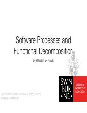 COS10009 - Lecture - Topic 6 - Functional and Modular Decomposition.key.pdf