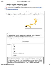 7. Chapter 10 Dynamics of Rotational Motion