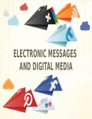 Lecture 6 Electronic Messages