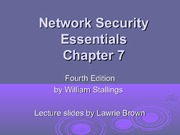 Network Security Essentials Chapter 7 Lecture Note COSC 4P14