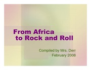 From Africa to Rock and Roll