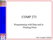 Lecture 19 - Floating Point, Data