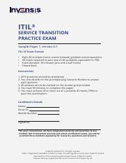 Invensis-Learning-ITIL-st-Examination-Full-Length-Practice-Test-ITIL-Training