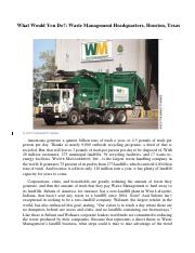What Would You Do_Williams_Waste Management