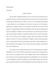 comedy in hamlet essay