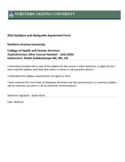 2014 Syllabus and Netiquette Agreement Form