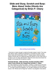 Slide and Slurp Scratch and Burp More About Verbs Words Are Categorical by Brian P Cleary - 5 Star R