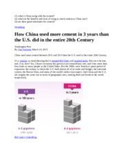 Yes. QU INCLUDED. Ch 8. China Cement