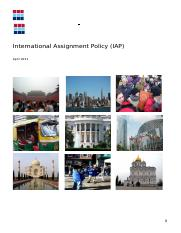 BBC International Assignments Policy (IAP)