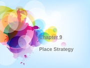 Chapter 9 - Place Strategy