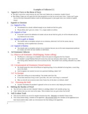 MODR 1770 - Otherclass_Examples of Fallacies