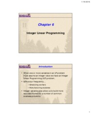 Lecture 4a - Integer programming(1)