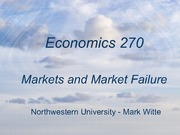 Markets and Failure
