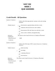 MGT 330 - WEEK 3 - QUIZ ANSWERS.docx