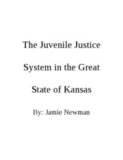 The Juvenile Justice System in the Great State of Kansas