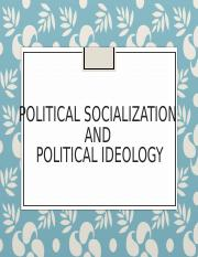 Political Socialization and Ideology.ppt