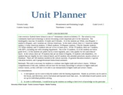 EDUC 265 Mearurement and Length estimating Unit planner