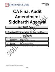 Audit Amendment_Siddharth Agarwal pdf - Sl No Topic 1 2 3 4